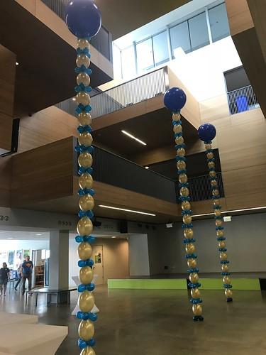 Ballonpilaar Rond Ballonslinger Ebo De Passie Rotterdam