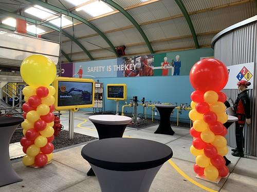 Ballonpilaar Breed Rond Safetycenter Shell Pernis Rotterdam