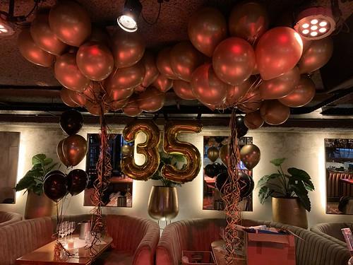 Heliumballonnen Dennis 35 Jaar Optreden Guido Van De Graaf Wolter Kroes Tino Martin Gerard Joling Lil Kleine Cafe In The City Rotterdam