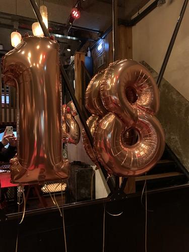 Folieballon Cijfer 18 Cafe In The City Rotterdam