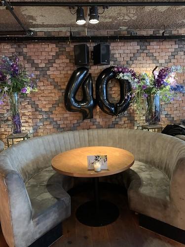 Folieballon Cijfer 40 Cafe In The City Rotterdam