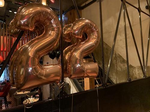 Folieballon Cijfer 22 Cafe In The City Rotterdam