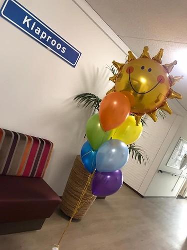 Ballonboeket Regenboog Zon Breede Vliet Meeuwenhof Argos Zorggroep Hoogvliet Rotterdam