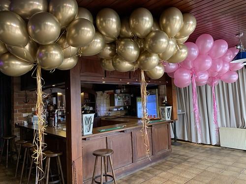 Heliumballonnen Chrome Goud En Metallic Roze Tennisvereniging Ommoordseweg Rotterdam