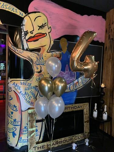 Folieballon Cijfer 4 Harbourclub Rotterdam