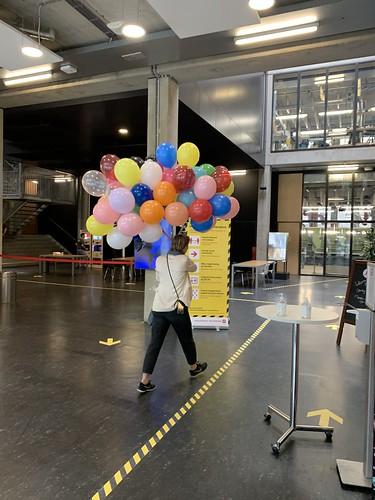 Heliumballonnen Hoge School Locatie Wijnhaven Rotterdam