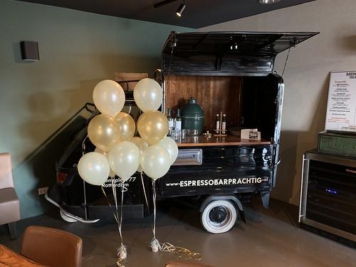 Tafeldecoratie 6ballonnen Restaurant Prachtig Rotterdam