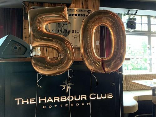 Folieballon Cijfer 50 Harbourclub Rotterdam