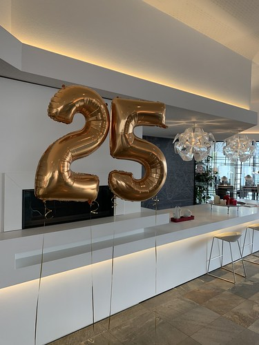 Folieballon Cijfer 25 Mainport Intell Hotel Rotterdam