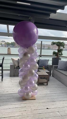 Ballonpilaar Breed Rond Eau Lounge Rotterdam