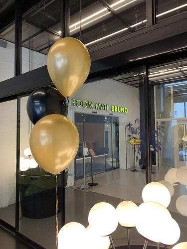 Tafeldecoratie 3ballonnen Bruno Roommate Hotel Rotterdam