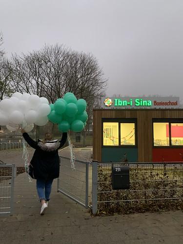 Heliumballonnen Basisschool Ibn I Sina Rotterdam