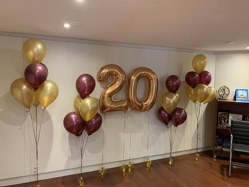 Folieballon Cijfer 20 Cleopatra Jewels Rotterdam