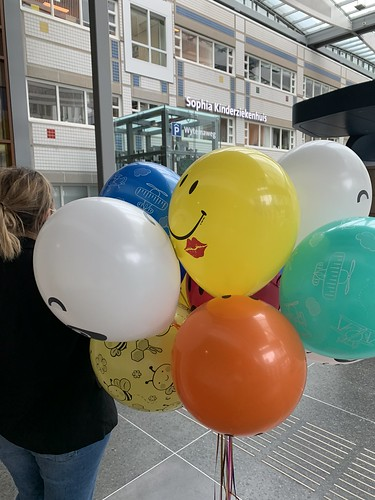 Heliumballonnen Sophia Kinderziekenhuis Erasmus Mc Rotterdam