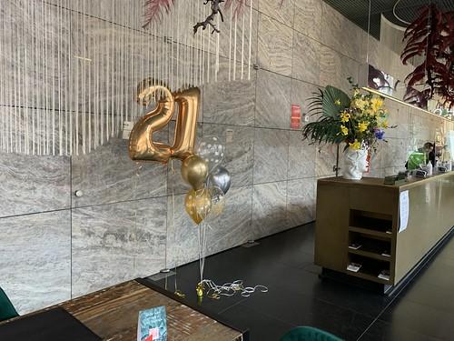 Ballonboeket Verjaardag 21 Jaar Nhow Hotel Rotterdam
