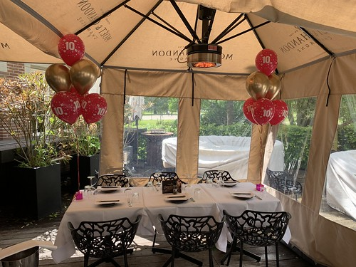 Tafeldecoratie 6ballonnen Verjaardag 10 Jaar Harbourclub Rotterdam