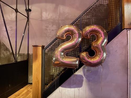 Folieballon Cijfer 23 Verjaardag Cafe In The City Rotterdam