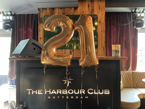 Folieballon Cijfer 21 Verjaardag The Harbour Club Rotterdam