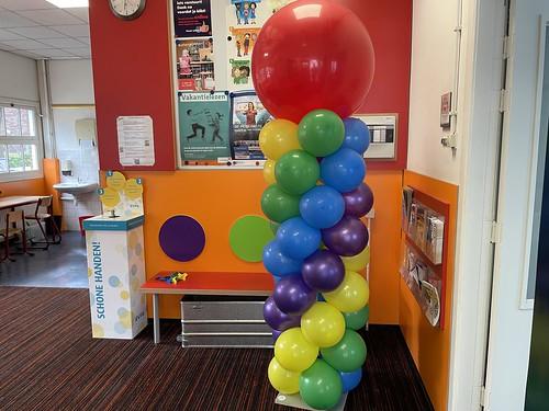 Ballonpilaar Breed Rond Dependance Tarcisius School Rotterdam