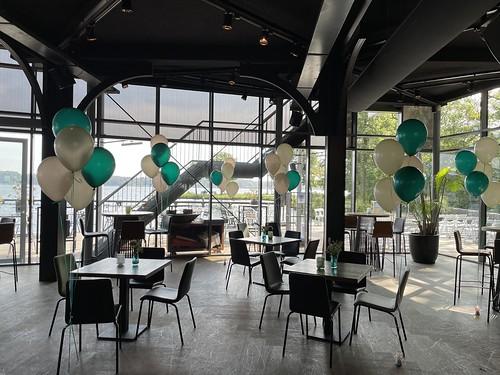 Tafeldecoratie 5ballonnen The Boathouse Kralingen Rotterdam