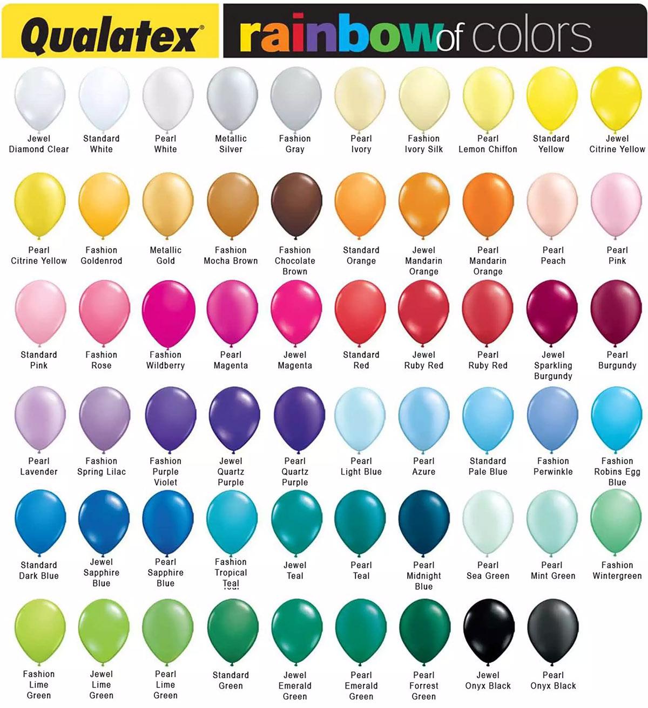 Kleurenkaart Qualatex Ballonnen